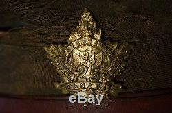 WW1 Canadian CEF 25th Battalion Other Ranks Trench Peak Cap Hat