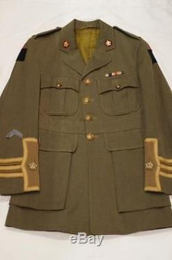 WW1 Canadian CEF 2nd Div. 25th Battalion Nova Scotia Majors Cuffs Tunic Uniform