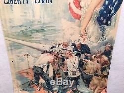 WW1 Clear The Way Fourth Liberty Loan Propaganda Poster (20 X 30) 1918