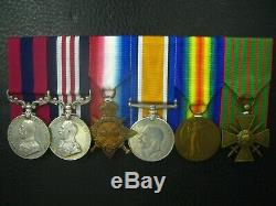 WW1 DCM MM CdG 1/6TH TERRITORIAL BATT. NORTHUMBERLAND FUSILIERS MEDAL GROUP