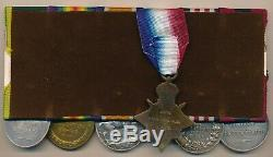 WW1 Distinguished Conduct & Military Medal Mons star group of 6 to Medical Corp