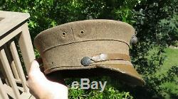 WW1 ERA USMC US Marine Corps Summer Dress Bell Crown Cap Hat Cover with EGA