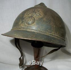 Ww1 French Army Helmet. Complete. 100% Original V, G Condition