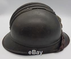 WW1 French Officers Ecole Speciale Militaire 1st Type M1915 Adrian helmet LOOK