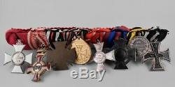 WW1 GERMAN Medal Bar 8 place enamel IRON CROSS FA Enamel FJ