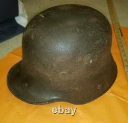 WW1 German/Austrian Helmet With Liner Line Shell Vintage War Memorabilia RARE