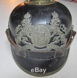 WW1 German Bavarian Pickelhaube spike helmet