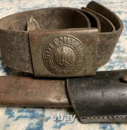WW1 German Bayonet Fichtel & Sachs with Scabbard, Frog, Belt, And Buckle RARE