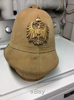 WW1 German Bordfeldt Tropenhelm original