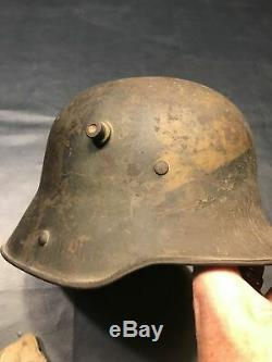 WW1 German Camo Helmet Veteran Bring Back Partial Liner with One Pad Attached