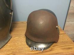 WW1 German Helmet Front Plate, Brow plate, Stirnpanzer