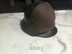 WW1 German Helmet + Front Plate, Brow plate, Stirnpanzer