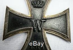 WW1 German Imperial 1914 grand iron cross badge pin medal WW2 order Knight Godet