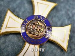 WW1 German Imperial cased order crown commander Prussian badge pin medal enamel