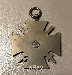 WW1 German Iron Cross EK1 EK2 Match Case Award Medal Badge Imperial Hindenburg