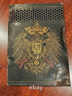 WW1 German Kingdom of Prussia Crest Eagle flag coat of arms flag old war metal