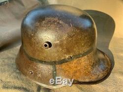 WW1 German M16 Camouflage Steel Helmet, Mimikri ET66 original