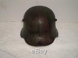WW1 German M17 Camo helmet, si66, shell, original