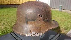WW1 German M17 camo helmet