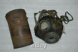 WW1 German M1917 GASMASK & CANISTER. (Gasmaske M17 mit Blechbüchse) marked