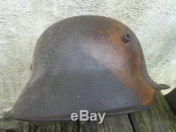 WW1 German Model 18 Cammo. Steel Helmet