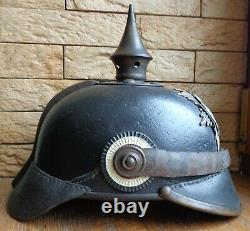 WW1 German Saxony Felt Pickelhaube Helmet Reproduction