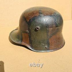 WW1 German camo helmet 100% original
