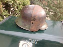 WW1 German helmet front plate. Brow plate. Stirnpanzer