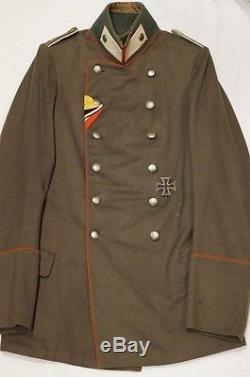 WW1 Imperial German 102nd Infantry Officers 1915 Pattern Feldgrau Litewka Tunic