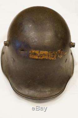WW1 Imperial German Steel Helmet 1 With US Post Home Stamps