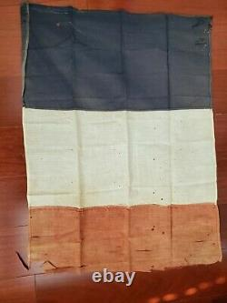 WW1 Imperial German flag first world war army antique old original French