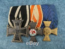 WW1 Imperial German pin Prussian cross badge medal Order of the Red Eagle enamel