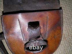 WW1 Leather Cavalry Sword Frog Horse Shoe & Nail Travelling Pouch. D MASON 1900