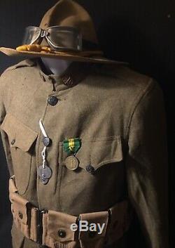 WW1 M1917 SPEC 1268 Cavalry PFC Service Uniform M Co, 8th Cavalry Regiment