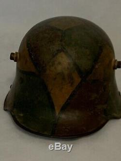 WW1 M-16 German Austrian Helmet Tortoise Shell Camo Original