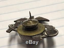 WW1 Marine Corps Enlisted EGA Visor Cap Insignia Hat Badge USMC Vintage USGI