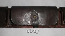 WW1 Military Bandolier Brown leather cartridge belt 133cm