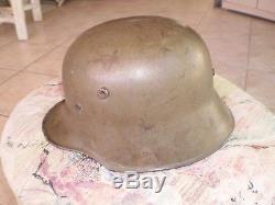 WW1 Model 1917 German helmet, W66, original paint and liner