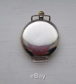 WW1 Officers Trench Watch 1915 double hinge sterling silver case Swiss movement