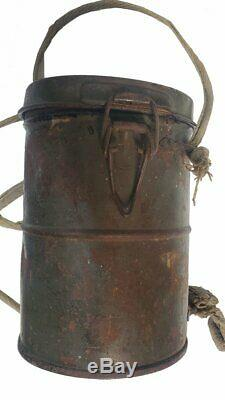 WW1 Original German Leather Gas Mask and Canister (1013MOM-C)