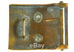 WW1 Ottoman Turkish M. 1909 Belt Buckle Type B SL Variant Museum Quality