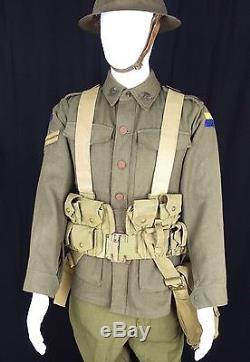 WW1 Pattern 1908 Complete Webbing Set ANZAC Gallipoli AIF