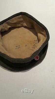 Ww1 Rare Original German Feldmutze Cap With Camo Band