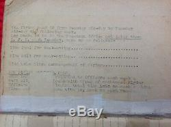 WW1 Royal Flying Corps Pilots Log Book 1918. RFC