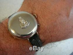 WW1 Royal Marines RM vintage Military Trench watch full Hunter case serviced VGC