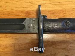 WW1 Springfield Bayonet with Scabbard 1919