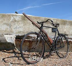 WW1 Style Army Roadster Bicycle with Military Fittings Vintage Antique