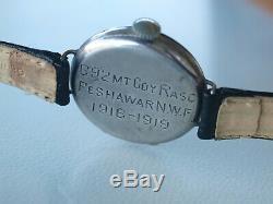 WW1 Trench Watch Alexora (Lecoultre) Genuine Inscription. Very rare