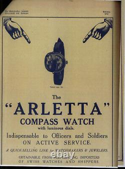WW1 Trench watch with compass / Military vintage watch, museum piece