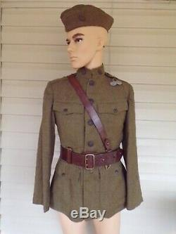 WW1 UNIFORM GROUPING 88th DIVISION 349th INFANTRY. COMPANY D. NAMED